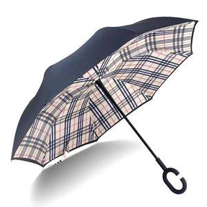 Donne Bianco Doppio Nube pieghevole blu Ombrelli ombrello per antipioggia invertito la protezione dello strato d'inversione Yada Umbrella Yd092 VHLlL