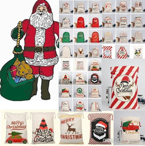 Bag Claus A350 Canvas Reindeers, Monogrammable New Monogramable Christmas Large Bags Gifts Christmas Drawstring With Sack Santa xhhair uyBt