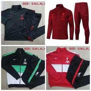2020/2021 Liverpool PSG Erwachsenen Trainingsanzug Strumpfhosen Trainer Sportbekleidung Männer 2020/21 Full Zip Trainingsjacke set # L41 Trainingsanzug