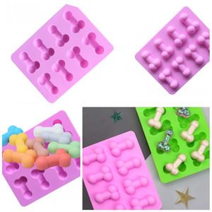 Personalizar silicón moldea Sabor del cubo de hielo del molde de la categoría alimenticia de chocolate Moldes Decoración de Pasteles Suministros Interesante aplicación de cocina 2 9LD F2