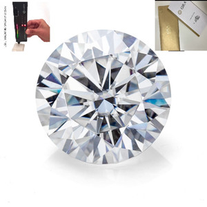 IJ GH EF Color Loose Moissanite Diamond VVS1 Test Positive Stone for Rings Earrings Pendant Brilliant Forever Excellent Cut
