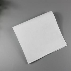 Pure lenços brancos 100% algodão Lenços Mulheres Homens 28 centímetros * 28 cm bolso quadrado do casamento Plain DIY Imprimir Empate lenços DHD1735