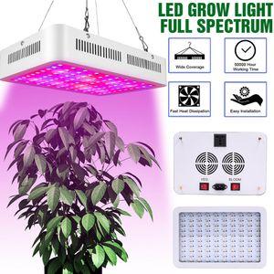 Planta de luz LED Grow Light 1500W dupla chips 380-730nm Luz Full Spectrum Plant Growth Lamp Branco