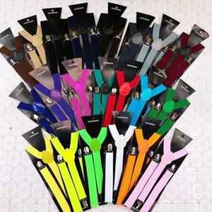 Suspenders Braces Men Women Y-Shape Back Clip-on Elastic Adjustable Trousers Belts Baby Straps 21 styles KKA8096