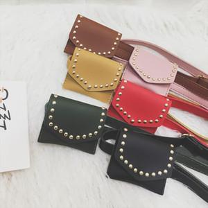 Kids Mini Waist Bag Leather Purses And Handbags For Baby Girls Fanny Pack Rivet Purse Chest Bag Children Waist Packs Belt Bag