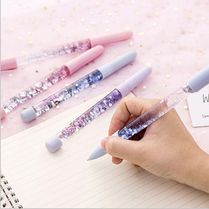 Gel-Feder Kawaii 0.5mm-Fee-Stock-Kristall Drift Sand Glitter Neutral Rainbow Colored Pens für das Schreiben Chancery-Material Escolar