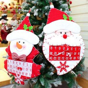 Карманы 2019 Новый Рождество войлок Адвент календарь Дети стены вися декоры 5puq отсчет