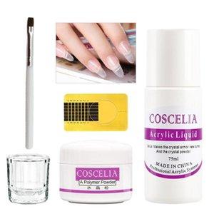 COSCELIA 8 / 120g Poudre Acrylique Set Poudre Acrylique Couleurs ongles décoration avec du liquide pour la manucure Brosses à ongles