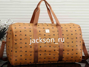 los hombres de la marca bolsa de viaje mujeres de lujo caliente bolsos de equipaje cuero de la PU de la lona bolsa de diseñador de la marca grandes deportes de capacidad bag55 * 25 * 30cm
