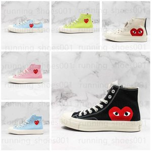 high quality CDG Play chuck 70s Hi Low Vulcanized All 1970 Pink Green Canvas Big Eyes Star Mens Women Skate Casual Shoes Womens Sneakers