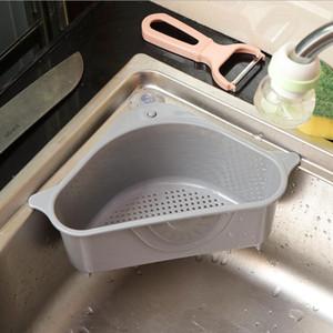 Triangolo Drain Basket Cucina Lavello Filtro Vegetable Rack Aspirazione Vassoio del lavello Filtri Frutta Verdure Verdure Lavaggio Stoccaggio Strumento DHD1162