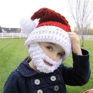 Baby Santa Hat Santa Claus Beard Hat Crochet hat Children's Beanie Caps Christmas Gift Idea Bearded Beanie Photography Props 200924
