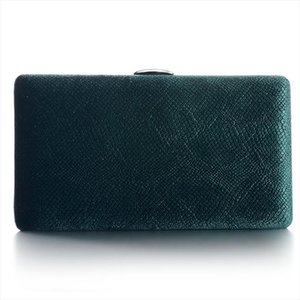 Dark Green Velvet Hard Case Box Clutch Evening Bags and Clutch Purses Handbags with Shoulder for Ball Party Prom