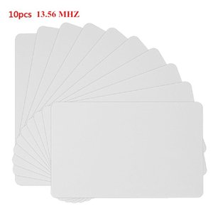 10PCS 13.56MHZ Contactless White PVC Card High Frequency IC Cards RFID Key Tag Access Control Attendance NFC Card