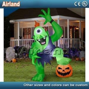Gigante monstruo de Halloween decoración inflable ogro con calabaza patio fiesta de Halloween atmósfera apoyos inflable de dibujos animados decoración