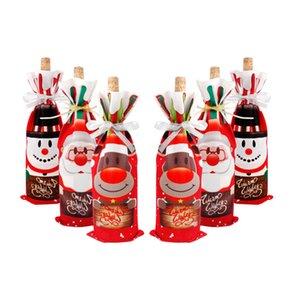Criativo Natal Wine Red Bag Wine Bottle Set Decorações do Natal Wine Red Christmas Gift Bag Atacado