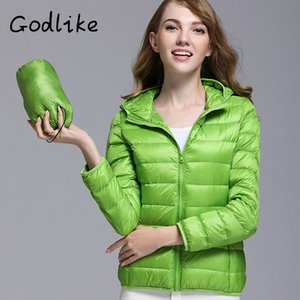 GODLIKE 2020pure Farbe Damen trendy Wintermantel / moderne beiläufige Daunenjacke / reine Farbe, leichte Jacke unten