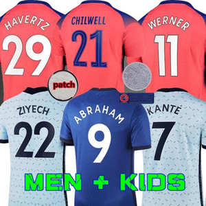 20 21 Fußball Trikots ABRAHAM WERNER havertz Chilwell ZIYECH LAMPARD Fußballhemd Pulišić Camiseta KANTE MOUNT 2020 2021 Men + Kids kit se
