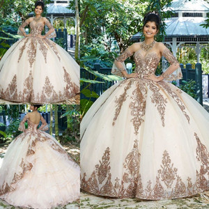 Sparkly Ball Gown Quinceanera Dresses Sweetheart Neck Lace Appliqued Tiered Sweet 16 Dress Sweep Train Organza Masquerade Gowns