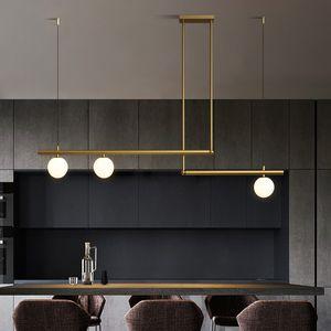 Lustre en verre moderne Boule éclairagiste Lustre / Suspension Noir / Or Nordic Light Fixture Lustres Haning LIghts