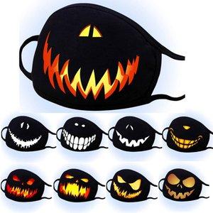 CARA diseñador máscara máscaras del fantasma de Halloween máscara de protección solar a prueba de polvo negro hombres haze mujeres de la impresión mascarilla lavable