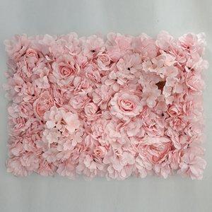 Decorativi fatti a mano della parete del fiore Pannello con fiori della seta artificiale per la cerimonia nuziale Babyshower decorazione della parete del fiore Sfondo