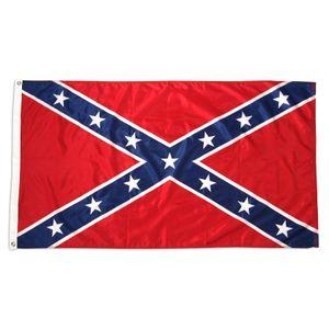 fábrica de 90x150cm 3x5ft Batalha de guerra civil Dixie Confederate Rebel Flag Atacado Direto pronto para enviar US