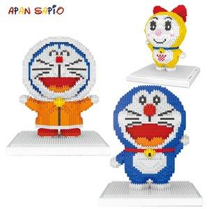Anime Educational montado Edifício Doraemon para brinquedos Blocks Brinquedos crianças Mini Série dos desenhos animados Figuras ly_bags modelo de tijolo ccDMY