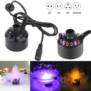 12 LED Fish Tank Mist Maker Forger Atomizer Nemlendirici İçin Akvaryum Dekorasyon Akvaryum LED Işık Dalgıç Işıklar