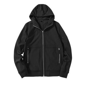 Tissu imperméable de Cptopstoney 20FW de veste de coquille souple avec peluche en automne et hiver manteau de coupe-vent pour hommes