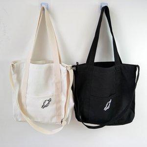 Fashion Women Canvas Bags Cartoon Messenger Bags Shoulder Bags 2020 New Arrival Female Casual Soft Zipper Canvas Handbags
