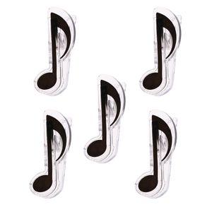 5 Stück Kunststoff Music Note-Buch-Seite Clip Notenständer Zubehör