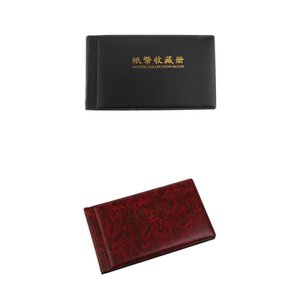 Banknote Currency Collection Album Paper Money Pocket 30 Pages Wine Red&Blue