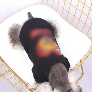 Şık Pullu Süsleme Pet T-shirt Sevimli Ayı Tasarımcı Bichon Teddy Gömlek Yaz Güzel Charm Pet Köpek Kedi Giyim