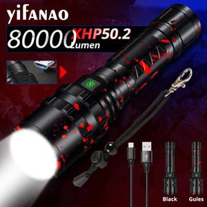 Xlamp 5000LM XHP50.2 LED Hunting Flash Light L2 Waterproof Torch Powerful Camping Lanterna Use 18650 26650 Battery