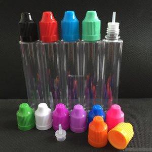 500Pcs PET E Sigara 15ml 30ml Boş şişeler Damlalık Plastik Renkli Caps E Likit Şişeleri ile Kalem Stil Şişe boşaltın
