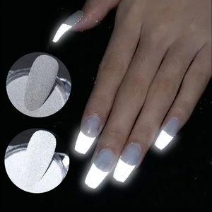 1 Box Reflective Nail Glitter Powder Shiny Dust Glow In The Dark For Bar Disco Sparkling Pigment Fluorescent Nail Art Decoration