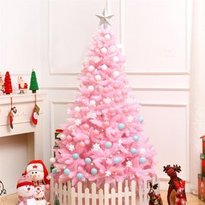 1.2M أزهار الكرز الوردي شجرة عيد الميلاد الديكور ديلوكس المشفرة شجرة عيد الميلاد هدايا مع LED أضواء ملونة الكرة ديكور كيه