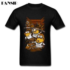 Minion Busted T Shirts Männer-T-Shirts Kurzarm reiner Baumwolle Rundhals T-Shirt für Mann