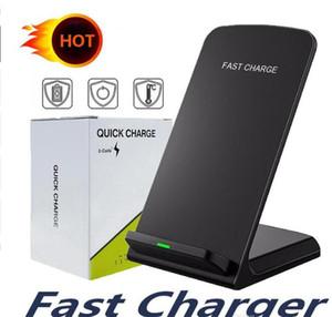 Q740 Cell Phone rápida Titular sem fio Carregador QI padrão 5W 7.5W 10W sem fio Encargo Atacado frete grátis Com Box
