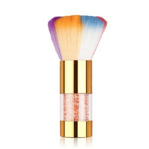 colorful Nail Art Brush Soft Nail Dust Brush UV Gel Polish Nylon For Manicure Professional DIY Design Tools
