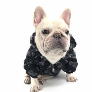 Pet inverno Brasão última moda Impresso Cães Gatos Casacos Corgi Bulldog Poodle Schnauzer do filhote de cachorro Outwears 4 cores