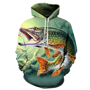 3d peixe tropical engraçado hoodies para fishinger pescador das mulheres dos homens manga longa com capuz sweatshirts streetwear