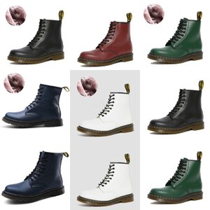 Neue Ankunfts-heiße Verkaufs-Angebote Super-Fashion Influx Martin Plus Velvet Cotton Retro Quadrat-Kopf Brown Paket Box Edle Schuhe Stiefel EU-45 # 558