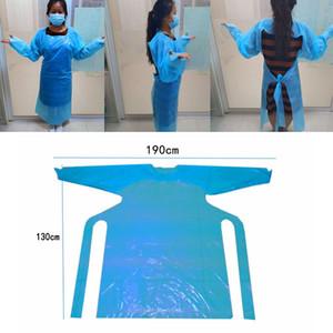CPE à usage unique Vêtements de protection anti-poussière Isolation Robes isolation étanche Suits Vêtements d'extérieur à usage unique Imperméables HHA1591