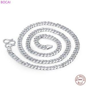BOCAI Мужская Ожерелье стерлингового серебра 999 стерлингового серебра ожерелье моды цепи S990 кнут цепи J