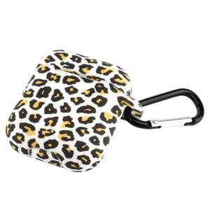 DHL Earphone Cases For Apple apple earphone 1 2 case Leopard print cartoon Cover apple earphone 1 2 ProtectionHard PC Fashion Boite