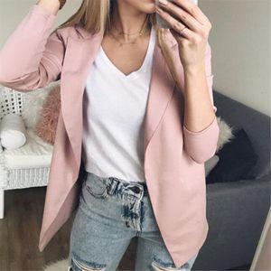 Clothes Women Fashion Women Long Sleeve Blazer Jackets Womens Business Blazers Solid Coats Formal Work Wear Blazer Mujer