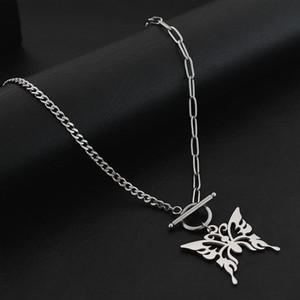 Pendant Necklaces Fashion Titanium Steel Butterfly Necklace Dark Black Wild Clavicle Chain