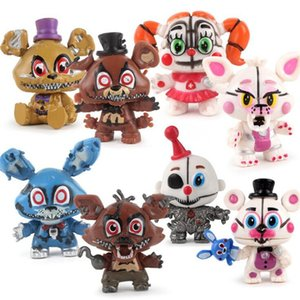 8pcs set FNAF Five Nights At Freddys Freddy toys Bonnie Foxy Fazbear Bear Action Figures Toy